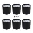 (6 Pack)Energy Saving LED Ceiling Fixture Aluminum Black/White Round Spot Light in White/Warm for Bedroom
