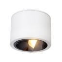 Black/White Drum Shape Light Fixture Aluminum Energy Saving LED Spot Light in White/Warm for Hallway