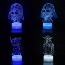 Boy Girl Birthday Gift 3D Illusion Light Touch Sensor 7 Color Changing Movie Character LED Night Light