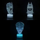 Battery USB Charging LED Night Light Boy Girl Gift 7 Color Changing Movie Character 3D Illusion Light with Touch Sensor