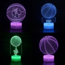 Basketball Pattern Design LED Illusion Light Touch Sensor 7 Color Changing 3D Night Light for Living Room