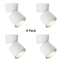 (4 Pack)White/Black Cylinder Down Light Bedroom Dining Room Angle Adjustable LED Light Fixture in White/Warm White