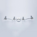 Waterproof 4 Heads Wall Sconce Bathroom Bedroom High Brightness LED Spot Light in White/Warm White