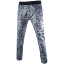 Unique Leopard Print Elastic Waist Slim Lounge Pants for Men