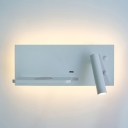 On-Off Switch Spot Light with USB Charging Port High Brightness LED Sconce Light for Study Bedroom