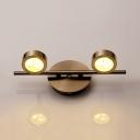 Metal Round Spot Light High Brightness 2/3/4 Lights Modern Style Wall Lamp for Mirror Bathroom