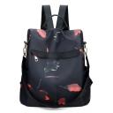 Women's Black Multi-functional Water Resistant Shoulder Bag Backpack 32*15*32 CM