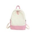 Popular Color Block Large Women's Backpack School Backpack 29*13*39 CM