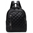 Fashion Classic Rhombus Pattern Zipper Decoration Leisure Backpack 25*13*31 CM