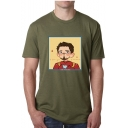 I AM IRON MAN Funny Cartoon Figure Printed Round Neck Short Sleeve Casual Tee