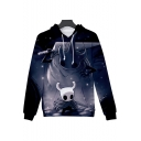 Hollow Knight New Trendy Game Comic Character Print Unisex Casual Loose Hoodie