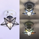 Shop Star Overhead Light Glass 1 Light Contemporary Style Clear/Blue/Colorful Ceiling Light