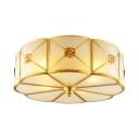 Brass Flower Flush Light 3/4/6 Lights Elegant Style Metal Ceiling Light for Living Room