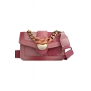 New Stylish Plain Square Quilted Crossbody Bag 21*6*13 CM