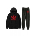 New Fashion Dragon DRACARYS Printed Casual Hoodie with Sweatpants Sport Two-Piece Set