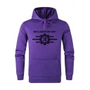 Popular Letter RECLAMATION DAY Printed Long Sleeve Fitted Drawstring Hoodie