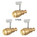 (3 Pack)Aluminum High Brightness Track Light 1 Head Gold/Silver LED Spot Light for Cloth Shop Market