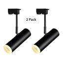 (2 Pack)Black/White LED Track Light Tube 1 Head Aluminum Spot Light in White/Warm White for Cloth Shop