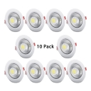 (6 Pack)6/8 Inch Wireless Recessed Light 20/30W Circle LED Light Fixture Recessed in White/Warm White for Foyer