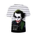 Cool Joker Clown Figure Basic Short Sleeve White T-Shirt
