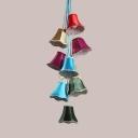 9 Lights Bell Shape Chandelier Mediterranean Style Metal Multi Color Suspension Light for Hotel KTV
