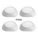 (4 Pack)2 Shape Option LED Light Fixture 18W Modern Acrylic Slim Panel Spot Light for Shop Mall Office