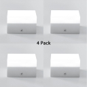 (4 Pack)Round/Rectangle Shape LED Spot Light Aluminum and Acrylic Long Life Ceiling Fixture in White/Warm White