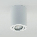 Angle Adjustable LED Spot Light Aluminum White/Black Cylinder Down Light in White/Warm for Living Room