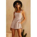 New Trendy Holiday Fashion Ruffled Strap Peplum Waist Playsuit Romper for Women