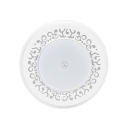 USB Charging/Battery Powered LED Closet Lighting White Round Cabinet Lighting with Infrared Sensor and Dusk to Dawn Sensor