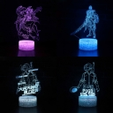 Game Character 3D Night Light Acrylic Flat 7 Color Changing LED Bedside Table Lamp with Touch Sensor for Bedroom