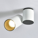 White/Gold Cylinder LED Spot Light Mall Meeting Room Aluminum Acrylic High Brightness Down Light in White/Warm