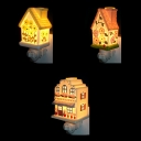 3 House Shape Optional Sconce Light Cute Ceramics On-Off Switch Night Lamp for Kids Bedroom Kitchen