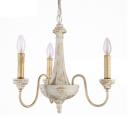 Dining Room Candle Shape Ceiling Light Metal 3/6/8 Lights Vintage Style Carved Chandelier