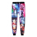 Men's Hip-hop Printed Relaxed Fit Drawstring Waist SweatPants