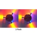 (2 Pack)Multi Color Aluminum Spot Light High Brightness 3/4/5/6 Lights LED Wall Light for KTV Bar