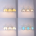 3 Lights Dome Sconce Light Tiffany Style Glass Wall Lamp for Dining Room Bathroom