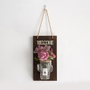One Pair String Light Decorative Sting Lamp with Clear Bottle and Flower for Front Door Foyer