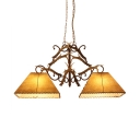 2 Lights Antlers Decoration Chandeliers Antique Style Resin Pendant Lighting for Dining Room Living Room