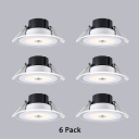 5W Wireless Flush Mount Recessed 2.5-3 Inch Pack of 6 Small Recessed Light in White for Hallway Bedroom