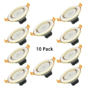 (10 Pack)Infrared Motion Sensor LED Recessed Down Light 5W 3 Inch Circle Light Fixture Recessed in White/Warm for Kitchen