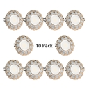 (10 Pack)Energy Saving LED Light Fixture Recessed 5W 2-4 Inch Recessed Light in White/Warm White for Dining Room Foyer