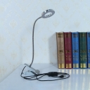 2 Lighting Modes LED Study Lighting Metal Dimmable Flexible Goose Neck Reading Light with Clip for Bedroom