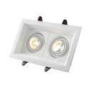 4*8 Inch Rectangle Ceiling Light Recessed Wireless Angle Adjustable Light Fixture Recessed in White/Warm