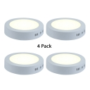 (4 Pack)9 Inch Wireless Ceiling Light 18W Round Shape Slim Panel LED Spot Light in White/Warm for Hallway