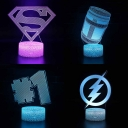 7 Color Changing 3D Night Light Boy Girl Bedroom Movie Element Pattern LED Illusion Lamp with Touche Sensor