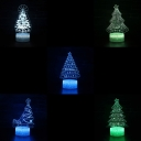 Home Decor 7 Color LED Illusion Light Touch Sensor Christmas Tree Pattern 3D Optical Night Light