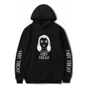Fashion Film Figure Popular Letter NOT TODAY Long Sleeve Loose Fit Hoodie