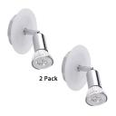 (2 Pack)Single Head Wireless LED Spot Light High Brightness Metal Ceiling Light in White/Warm White for Foyer