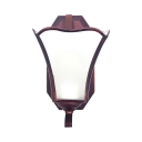 Rust Up Lighting Wall Light 1 Light Traditional Metal Glass Wall Lamp for Stair Dining Room